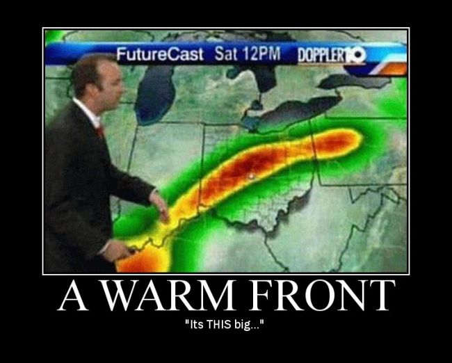 A warm front