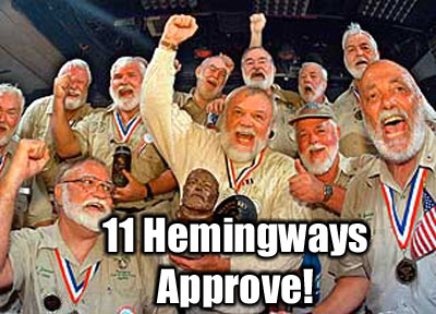 Eleven Hemmingways Approve
