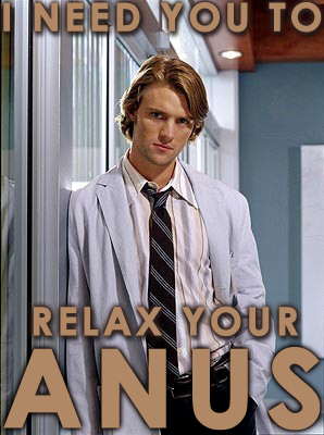 Relax your anus