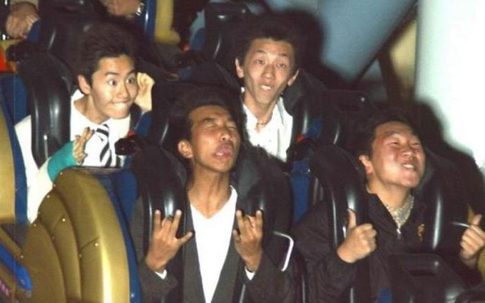 Asians on rollercoaster