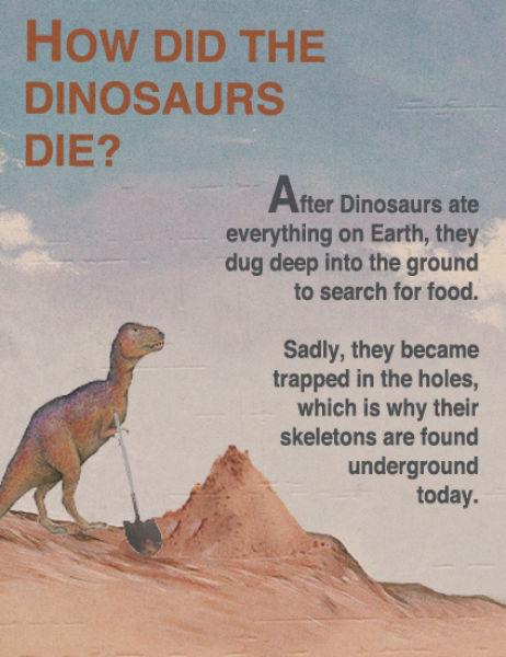 How did the dinosaurs die