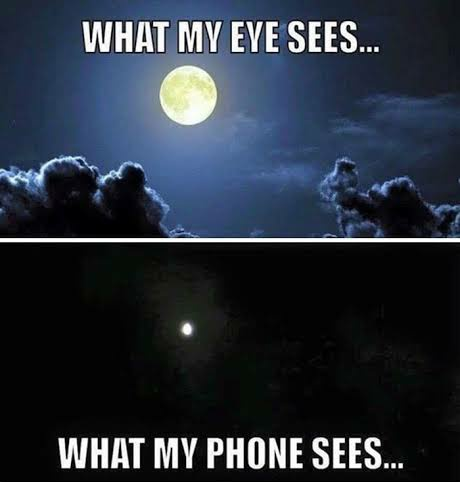 Eye vs phone
