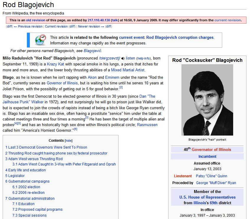 Wikipedia - Rod Blagojevich