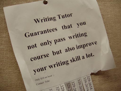 tutor writing